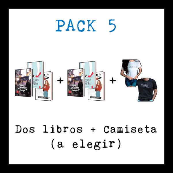 Dos libros - Perdona tienes fuego + lo que escribi antes y después de ti + mi vida da para una serie + camiseta - Franlopezcastillo.com